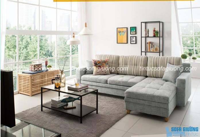 Sofa giường màu xám đơn giản mà sang trọng cho phòng khách thông minh