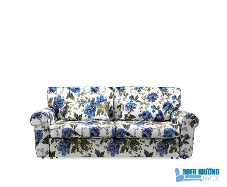 Sofa giường họa tiết hoa cỏ mùa hè thu hút được rất nhiều sự quan tâm của những người yêu nội thất