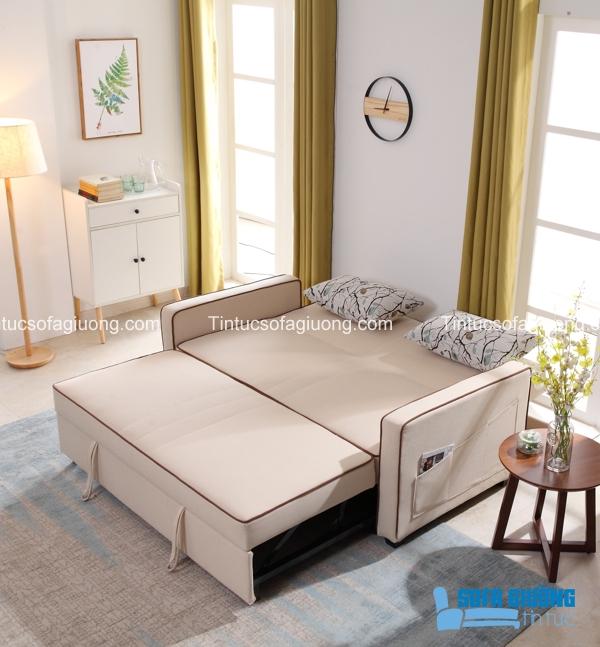 Mẫu sofa giường màu sữa ngọt ngào