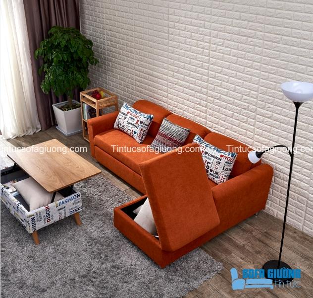 Ngăn đựng đồ rất tiện lợi của ghế sofa giường đa năng