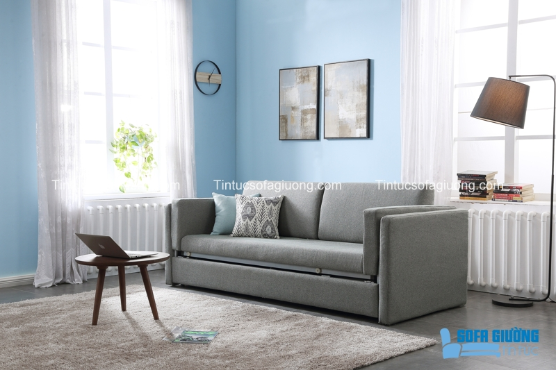 Chiếc sofa giường này rất nhỏ gọn khi ở hình dáng một chiếc ghế sofa