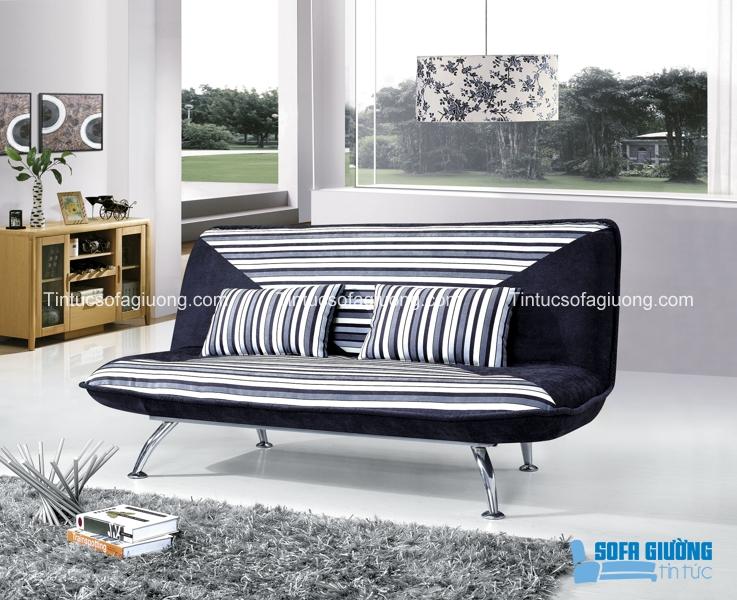 Thiết kế của sofa giường mang những đường nét thật trẻ trung và hiện đại